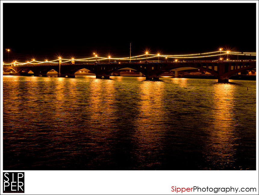 Tempe Arizona Bridge at Night