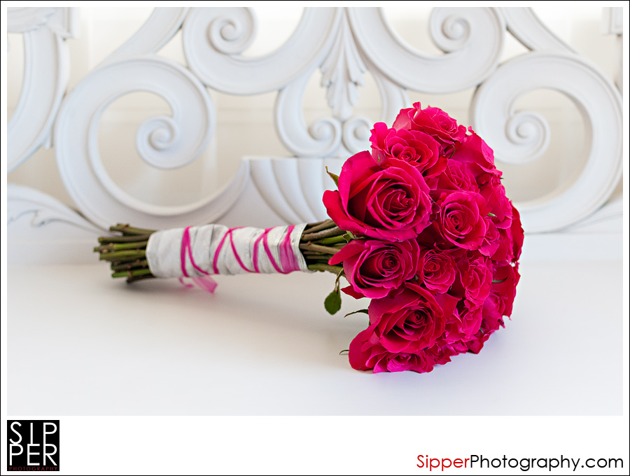 Bridal Bouquet with Hot Lady Pink Flowers