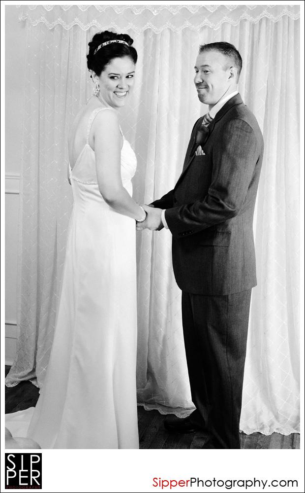 Wedding Ceremony at Gilbert Farmhouse