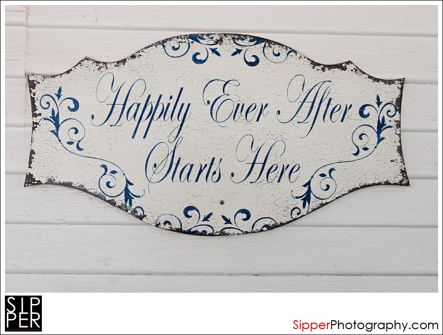 Happily Ever Starts Here Sign