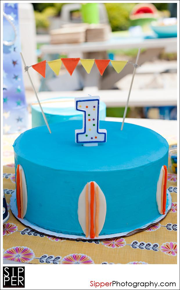 First Birthday Surfer Cake