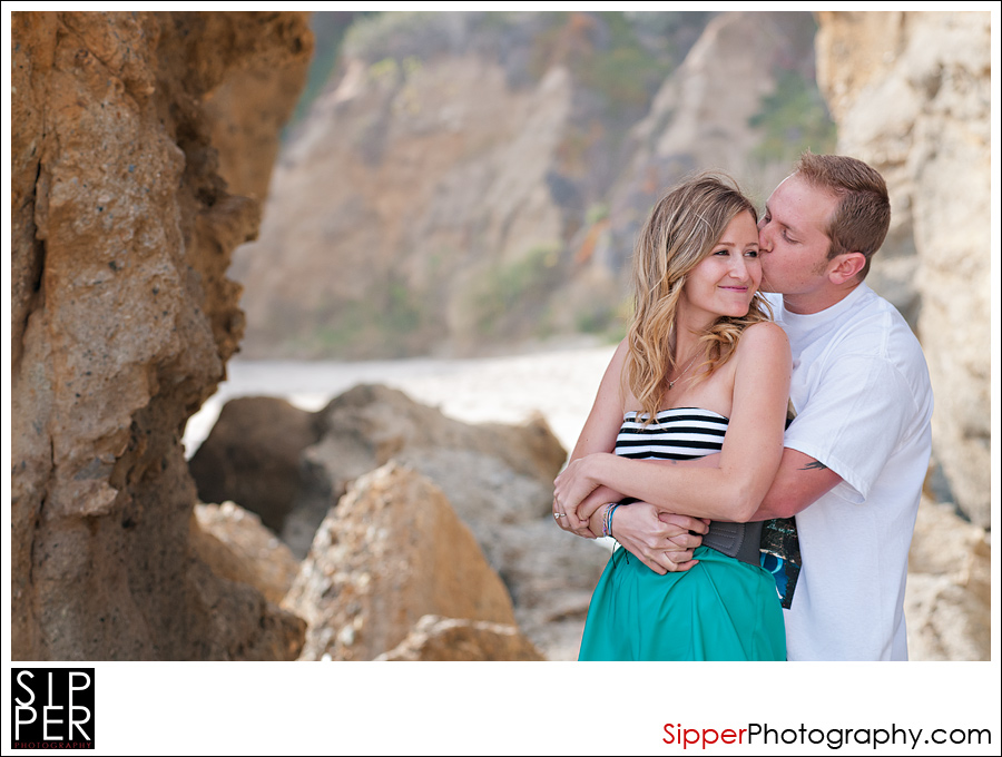 Orange County Beach Engagement Portrait