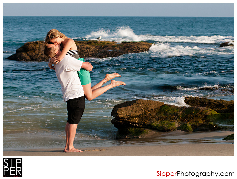 Laguna Beach Engagement Couple