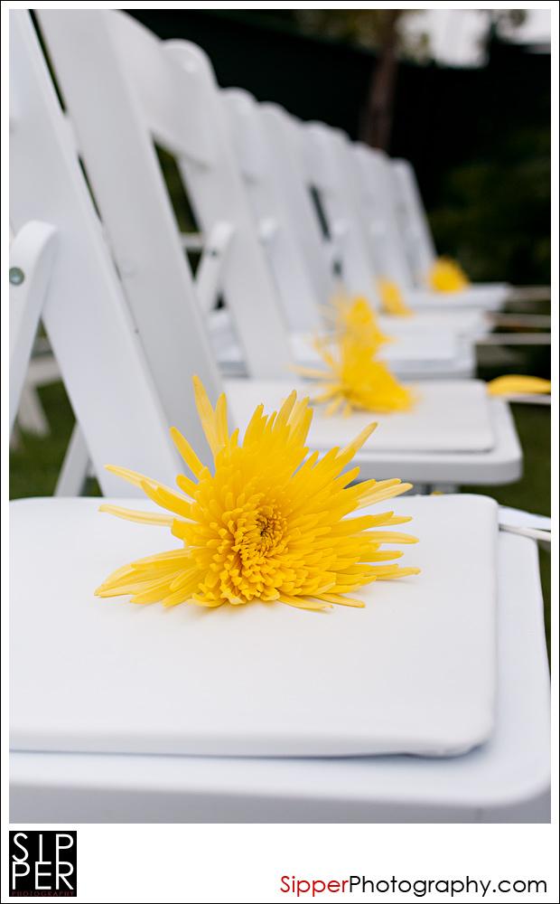 Wedding ceremony Chair Shot