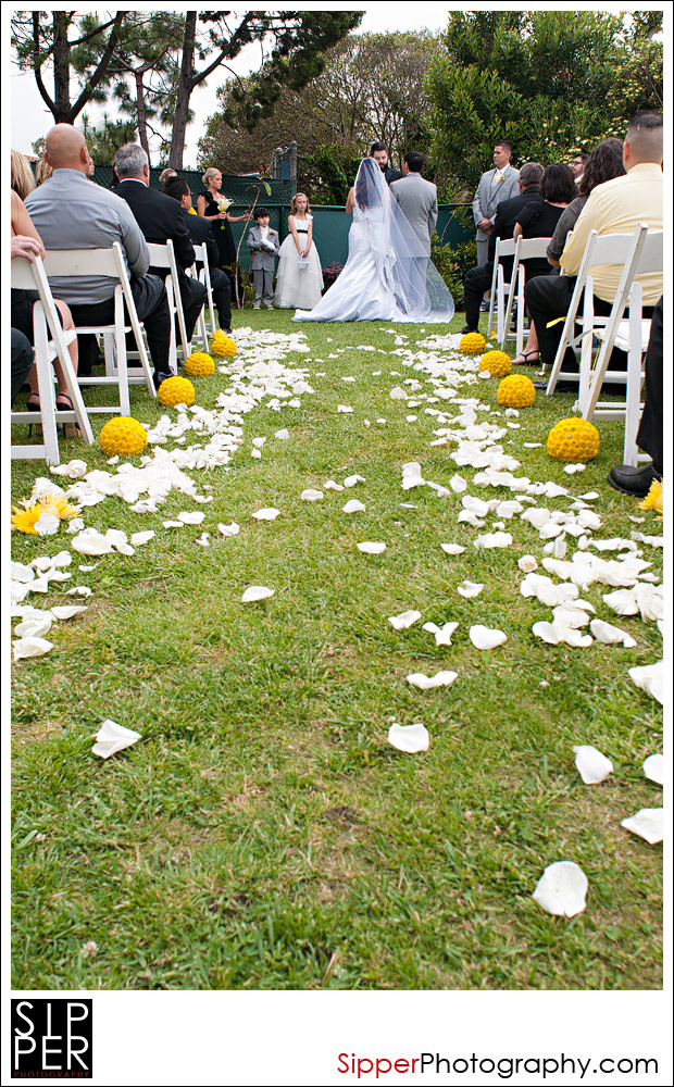 Wedding Ceremony Aisle Shot