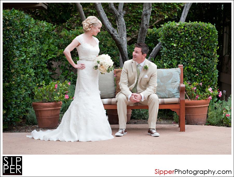 Wedding Couple at The Surf and Sand Hotel, Laguna Beach