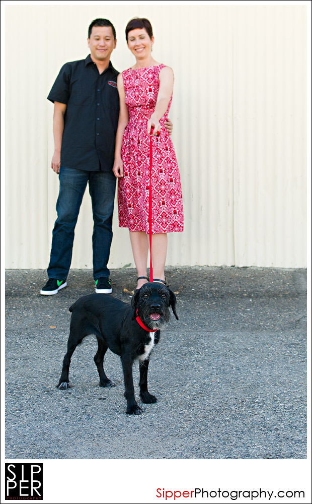 Urban Couple Portrait with their dog