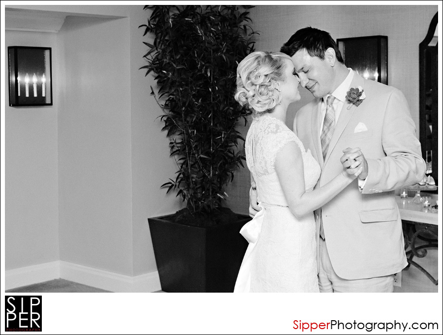 First Dance at wedding reception at the Surf and Sand Hotel