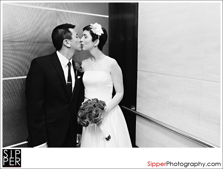 Bridal Couple Photo  in Elevator