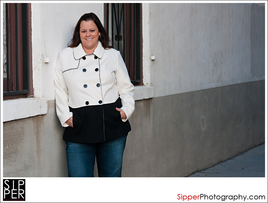 Women's Ivory/Black Pea Coat