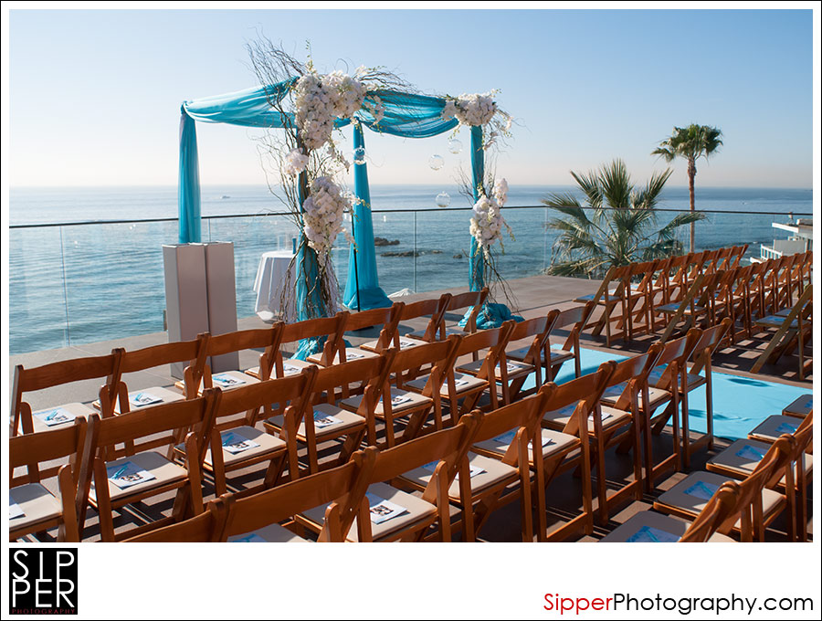 The Catalina Terrace Wedding Ceremony Spot At Surf And Sand Hotel
