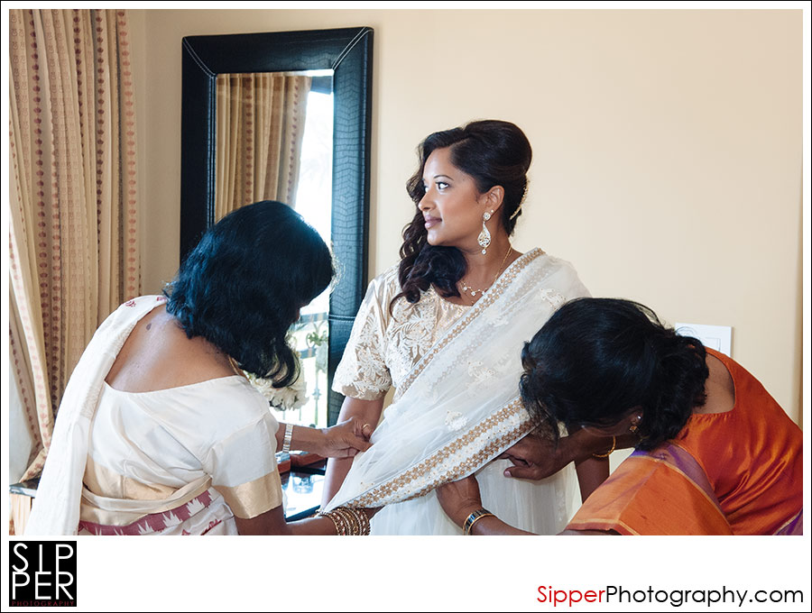Indian Bridal Saree Pre Ceremony dress shot