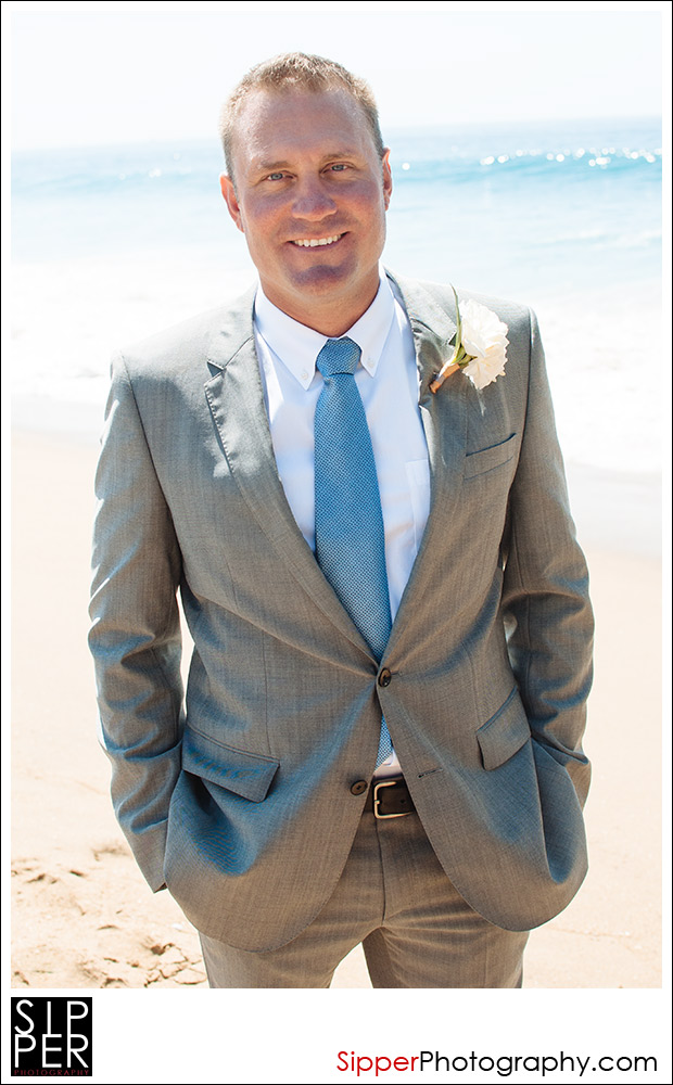Wedding Groom Portrait at Newport Beach
