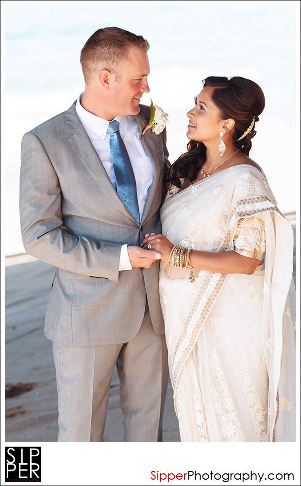 Wedding Photo under the Balboa Pier in Newport Beach