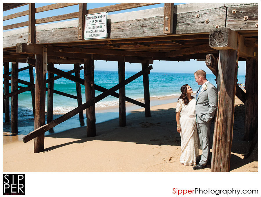 Wedding Photos under Balboa Pier