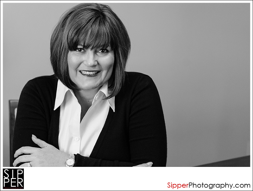 Orange County Business Profession al Head Shot in Black and White