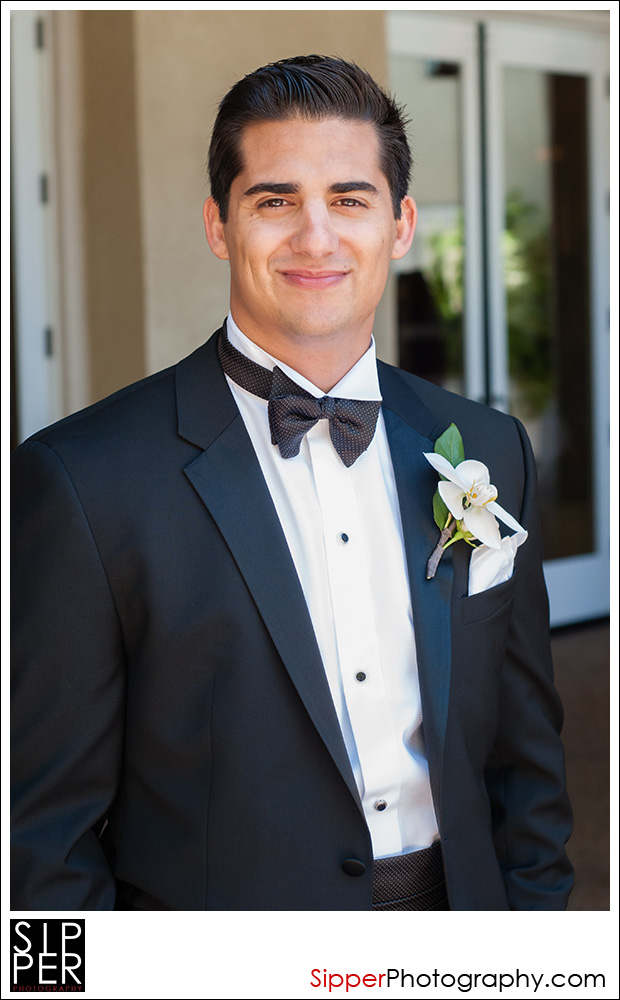 Groom at the Balboa Bay Resort in Newport Beach, California