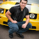 Senior Portrait with Ford Mustang Car