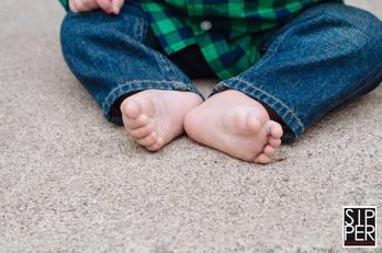 First Birthday Portrait of Baby Feet