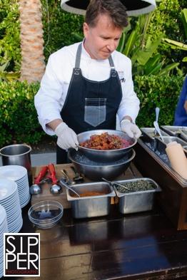 Chef at Poke Station at Hotel Irvine