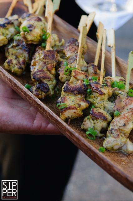 Chicken Satay Skewers by Catering at Hotel Irvine