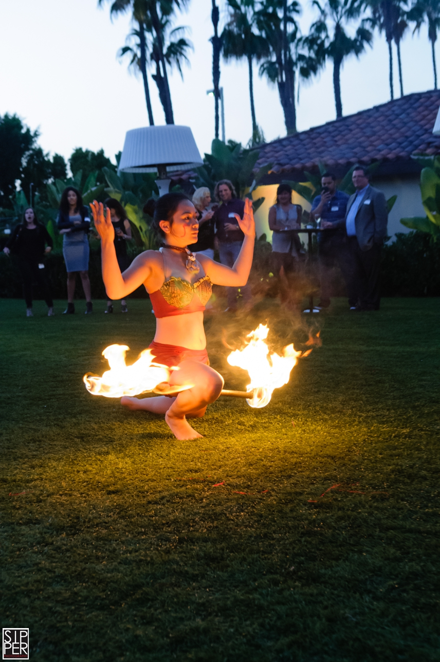 Fire Dancer at Hotel Irvine Event