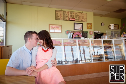, Sweet O Donuts Shop Engagement Session | Connor + Jacey, Sipper Photography