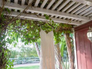 Wedding Dress Detail shot at The Red Horse Barn in Huntington Beach, CA