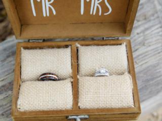 Mr. and Mrs. Wedding Ring Box
