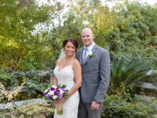 Couple shot at Outdoor Wedding at The Red Horse Barn in Huntington Beach, CA