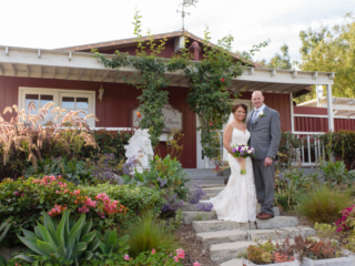 Wedding Couple at The Red Horse Barn Outdoor Wedding Venue in Orange County, CA