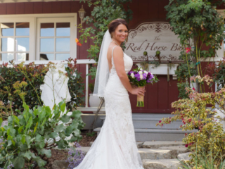 Bridal Portrait at The Red Horse Barn Wedding Venue
