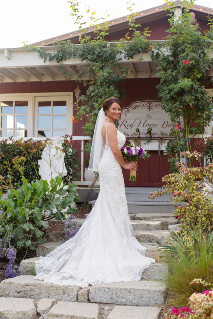 Bridal Portrait at The Red Horse Barn Wedding Venue
