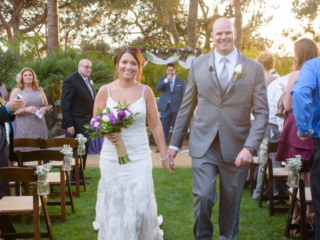 Outdoor Wedding Ceremony at The Red Horse Barn in Orange County, CA
