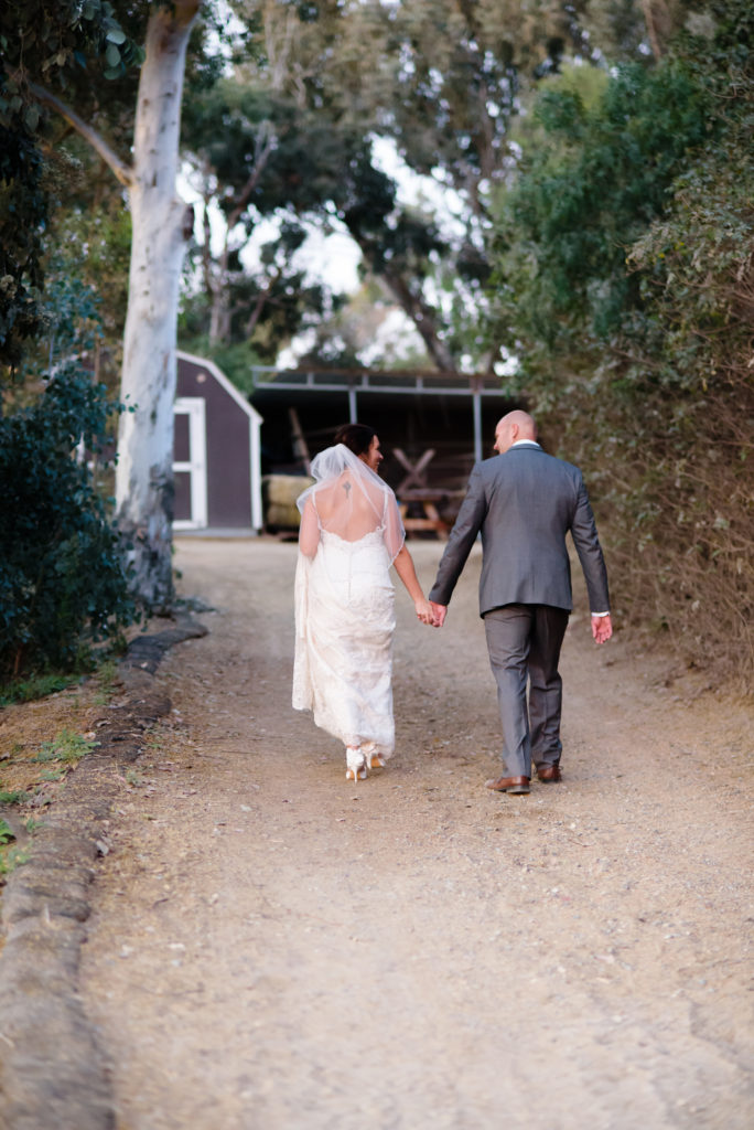 Bridal Couple Romantic Portraits at The Red Horse Barn in Orange County, CA